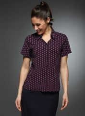 Ingrid Comfort Print Work Blouse
