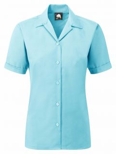 The Premium Oxford Short Sleeve Blouse