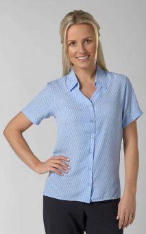 Eloise - Short Sleeve Patterned Work Blouse