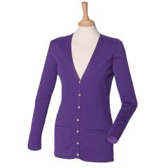 HB723 Women's V-neck Button Cardigan
