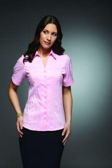 Holly - Short Sleeve Plain Work Blouse