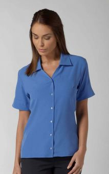 Lillie - Short Sleeve Plain Work Blouse