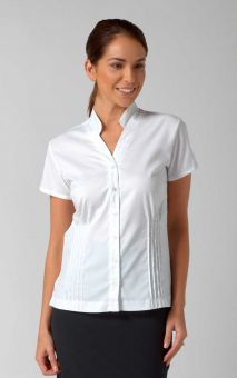 Mia - Short Sleeve Plain Work Blouse