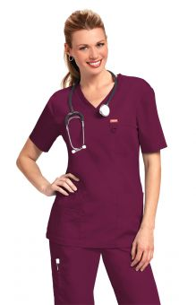 Orange Balboa Unisex Scrub Top