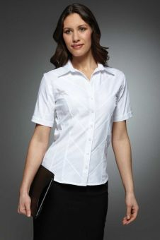 Hanna - Long & Short Sleeve Work Blouse