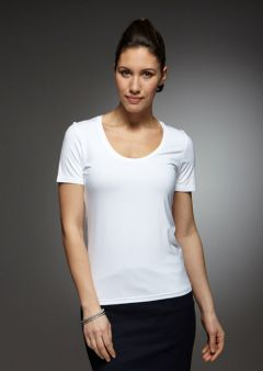 Grace- Short Sleeve Plain Top Work Blouse