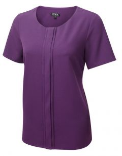 Poppy Pleat Front Comfort Stretch Shell Top